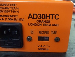 Rectifier switch labelled.